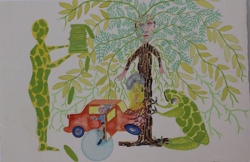 Draw Frogs Car Treeman 16