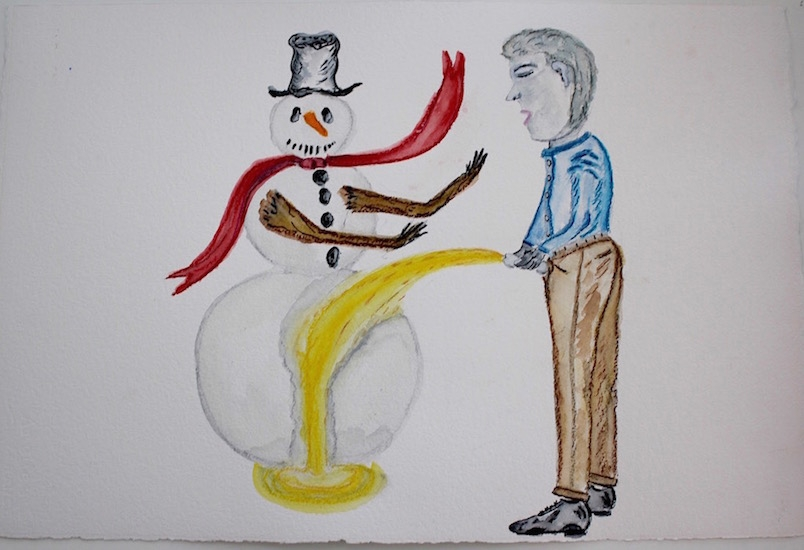 Draw Piss on Snowman 16