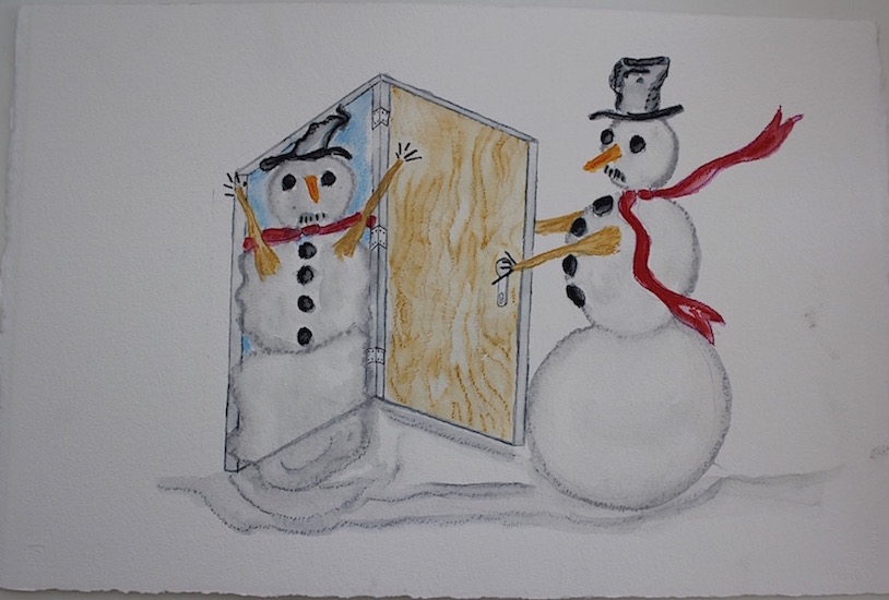 Draw Snow in the Door 16