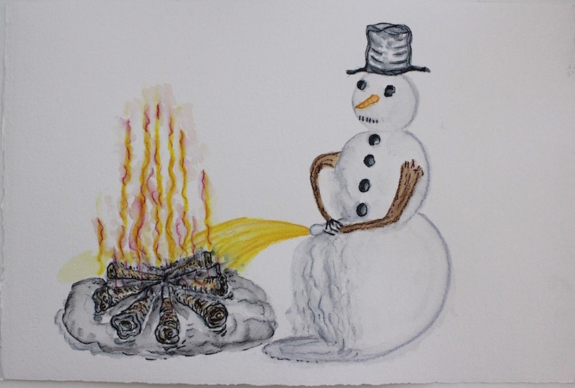 Draw Snowman Piss in Fire 16